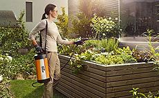 Pulverizadores para conservação e jardinagem profissional