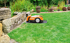 Robotic mowers for small lawn areas