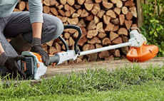 Cordless grass trimmers and brushcutters