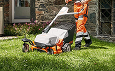 Lawn mowers for professional use