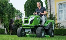 Инновационные тракторы-газонокосилки VIKING -